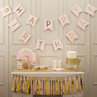 Vimpel- Happy Birthday rosa